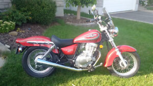 Great bike to learn to ride.  Suzuki Marauder 250
