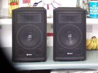 "TWO NEW SKYTEK 8"" PASSIVE SPEAKERS 400W"