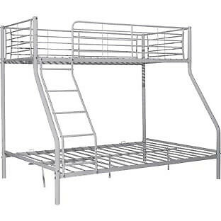 Metal Triple Bunk Bed Frame Silver In Leicester Leicestershire