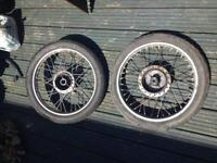 Cg 125 wheels and tyres