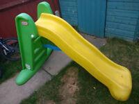 Little Tikes (Large Folding Slide + Small Folding Slide) and Small Green Dinosaur Slide