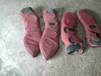 Full size horse travel boots