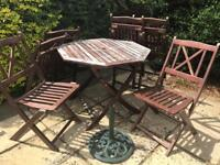 Garden furniture set with 6 chairs
