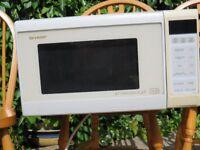 White Sharp Microwave