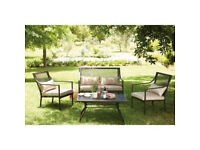rimini 4 piece garden set with cushions rrp £300 only £125 supplied new boxed