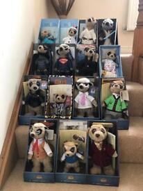 Meerkats full set of 15 collectors items text 07870186929