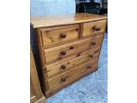 Solid Pine chat of drawers with dovetail joints. Possible delivery
