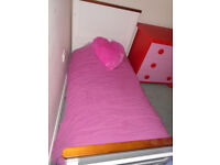 White Cotbed / Cot Bed / Cot including mattress, very good condition