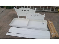 White Wooden Childrens Single Bed