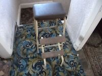 LOVELY 50s KITCHEN STOOL/SEAT IN GOOD CONDITION
