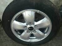 """Mini Cooper 15"""" Alloy With Tyre 2014-2017 model"""