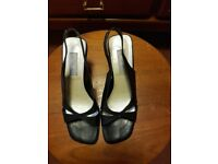 WALLIS dark navy leather sandals size 38 (5)