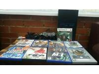 Ps2, one controller, 9 cd games, all wires