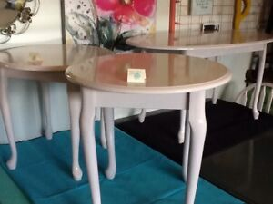 2 Blush side tables -2 available $35 each or 2/$60