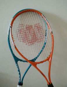 Two wilson tennis racquet for sale with free tennis balls