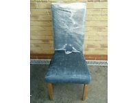 Leather Upholstered Black Snakeskin Dining/Bedroom/Hall/Statement chair
