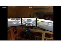 "Triple 24"" Monitors & stand"
