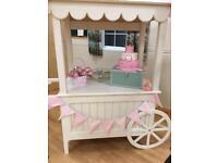 Sweet trolley wedding table sweetie cart