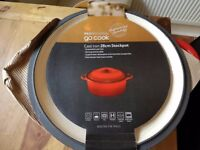 go cook cast iron 28cm stockpot rrp £60