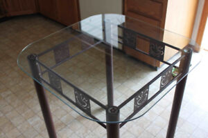 Small glass topped table NEW PRICE
