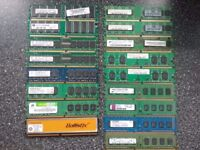 MIXED LOT OF PC RAM DDR,DDR2 AND DDR3