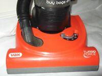 Vax 1700 watt Turbo Force (Bagless) (POWER, POWER!!! heavy duty) vacuum cleaner. £50.00