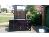 Black Ash Bedside Cabinets and Chest of Drawers