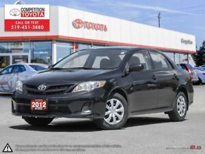 2012 Toyota Corolla CE One Owner, No Accidents, Toyota Serviced
