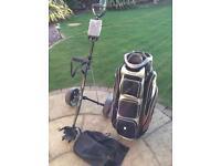 MacGregor golf bag and trolley