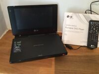LG Portable DVD player, with remote, charger and case