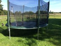 """Plums 8""""trampoline. To be dismantled and collected."""