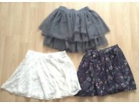 Girls skirts X 3 10-11 years