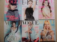 6 VOGUE MAGAZINES 2012 EDITIONS, LANA DEL REY,KATE MOSS,CHARLIZE THERON,SIENNA MILLER
