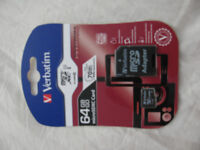 64GB Micro sd cards with sd converter (new sealed) £15 each