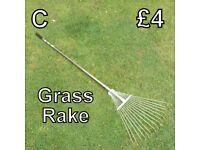 Gardening Tools (C) Grass Rake