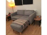 Habitat sofa and stool