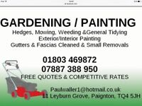 Gardening and Painting jobs wanted