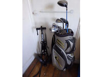 John Letters TR47 Irons and Fairway Woods, Ping G2, Ping brass Putter, Bag and Trolley