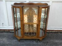 Ornate glass display cabinet, has some damage as shown