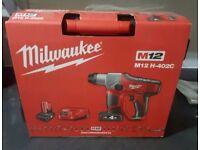 Brand new Milwaukee M12-402C compact SDS Hammer Drill