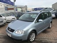 2006 06 VOLKSWAGEN TOURAN 1.9 TDI DIESEL SEVEN SEATS TIDY FOR THE YEAR AND PRICE SUPERB DRIVE MOT'D