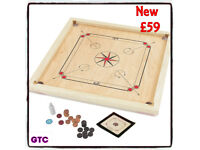 Carrom Board Set Beautifully hand finished with solid Mango Surround