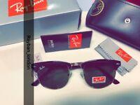 Best rayban Clubmaster men's women's sunglasses retro aviator wayfarer new box bag black gold brown