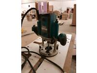 Makita router 110v with worktop jig