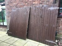 Strong pair wooden Gates