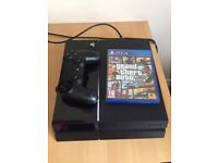 PS4 500GB CONSOLE + GAMES AND CONTROLLER