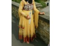 Ladies lovely asian wedding dres used once excellent condition