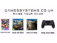 Save up to 50% on Xbox One PS4 Switch Wii U Xbox 360 PS3 Wii 3DS PC items & controllers!