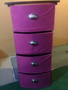 Pink Four Drawer Cart