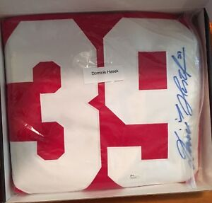 Autographed Dominic Hasek Jersey with COA